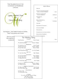 wedding program layouts wedding program layout