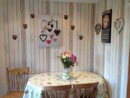 Shabby Chic Kitchen Furniture by Wood Panel Effect Wallpaper Shabby Chic Kitchen Ideas Home Ideas