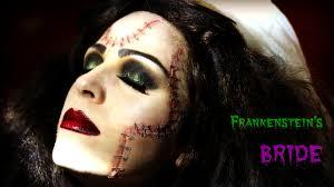 the bride of frankenstein halloween makeup youtube