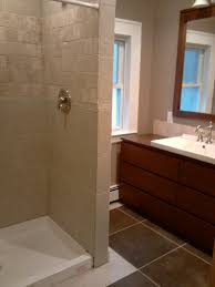 Shower Curtains For Stand Up Showers A Stand Up Shower Diy Bath Basements And