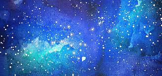 watercolor painting ink bright star stars universe sky oil paint