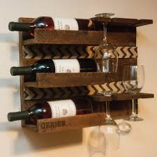 wooden wall mounted wine rack robinson house decor