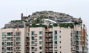 Fern Rock Garden Apartments Zhang Builds Mountain On Apartment Block In Beijing China To