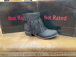 captain country black fringed ankle boot u2013 cheerful heart