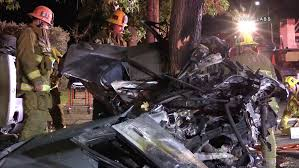 4 dead after bmw veers onto wrong side of road in northridge