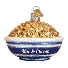 world ornaments food bowl of mac and cheese ornament