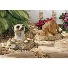 design toscano kalahari meerkat statues out of