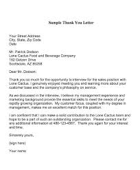 sample job interview thank you letter example of thank you letter after interview thank you letter after