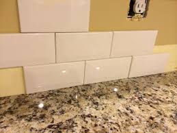 awesome off white subway tile backsplash pictures design