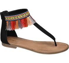 catwalk ladies u0027 tassel toe post sandals black deichmann
