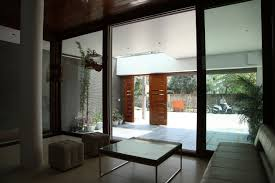 furniture minimalist living room tropical house design with glass