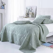 bed u0026 bedding melody quilted bedspreads in green for bedroom