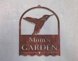 Hummingbird Garden Decor Hummingbird Sign Etsy