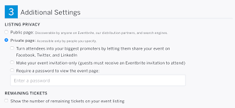 how to manage the privacy settings for your event eventbrite