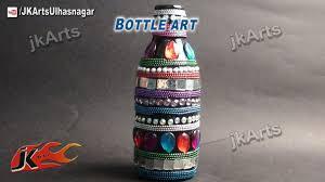how to decorate glass bottle bottle art jk arts 506 youtube