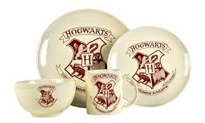 harry potter hogwarts crest 4 piece dinner set