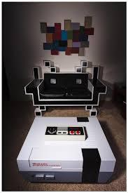 Gaming Home Decor Retro Gaming Furniture Nerds United Pinterest Gaming