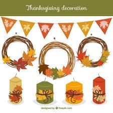 thanksgiving decoration vector free