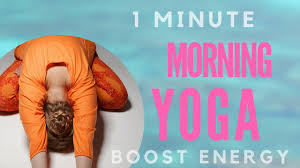 Home Yoga Routine by 1 Min Morning Beginners Yoga Workout For Energy Boost At Home