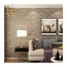 high quality thick flocked modern geometry 3d wallpaper for walls
