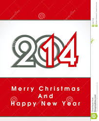 creative happy new year 2014 and christmas design celebration