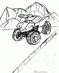 quad coloring pages