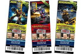 transformers ticket birthday invitations ithinkparty on artfire