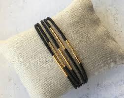 Handmade Seed Beaded Gold Plated Seed Bead Bracelet Etsy