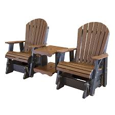 Amish Poly Outdoor Furniture by Amish Heritage Poly Double Glider Settee