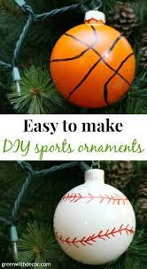green with decor easy diy basketball and baseball ornaments