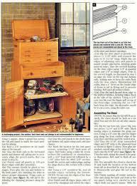 Wood Tool Storage Cabinets Rolling Tool Cabinet Plans U2022 Woodarchivist