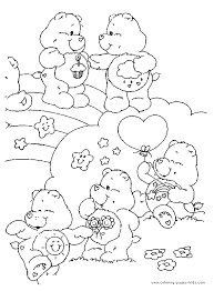 care bears coloring care bears party