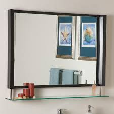 Framed Bathroom Mirrors Shop Decor Wonderland 39 5 In X 23 5 In Brown Rectangular Framed