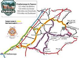map of chattanooga tn locate historic tapoco lodge