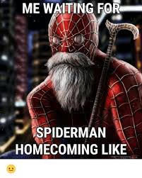 Spiderman Funny Meme - me waiting for spiderman homecoming like spiderman meme on me me