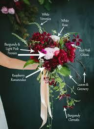 burgundy flowers bouquet breakdown berry bohemian bouquet bridal bouquets berry
