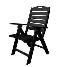Black Patio Chair Black Outdoor Lounge Chairs Patio Chairs The Home Depot