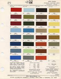 1973 mustang paint chip chart with mixing codes maine mustang