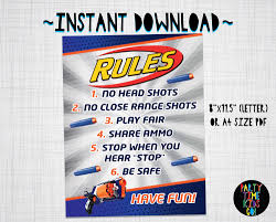 wars party supplies nerf poster nerf sign nerf wars party decorations