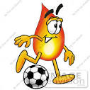 cartoon soccer ball kick
