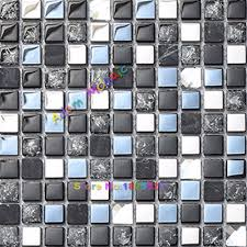 aliexpress com buy glass mirror tile blue backsplash kitchen aliexpress com buy glass mirror tile blue backsplash kitchen silver diamond mosaic bathroom wall tiles deco materials from reliable wall materials