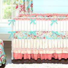 Teal Crib Bedding Sets Baby Girl Bedding Sets Coral And Teal Floral Baby Crib Bedding