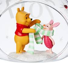 winnie the pooh and piglet glass drop sketchbook ornament 2017