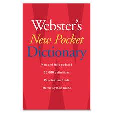 webster u0027s new pocket dictionary walmart com