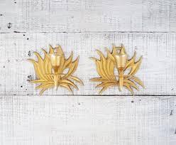 Flower Wall Sconces Lighting Golden Blossom Flower Wall Sconces For Wall Decor And