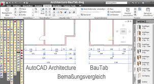 autocad architektur bautab baubemaßung