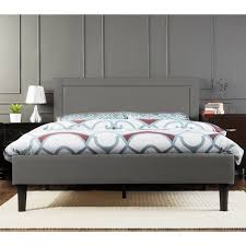 Grey King Size Bed Frame Wiltshire King Size Linen Fabric Bed Frame In Grey Buy King Size