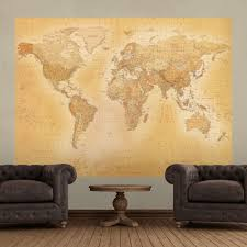 Old World Map Wall Old World Map Atlas Wallpaper Mural 1 58m X 2 32m