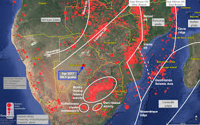 Map Fault Lines United States by Rupture Along A Billion Year Old Plate Boundary In Botswana
