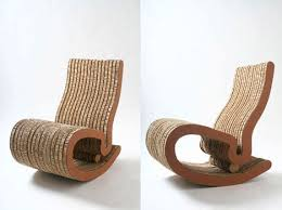 How To Make A Cardboard Chair Recovered Cardboard Shaped Into Sleek Wavy Chairs And Tables At